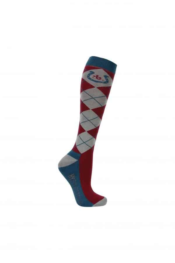Hy Equestrian Thelwell Collection Horse Shoe Socks - Pack of 3 Hy Equestrian