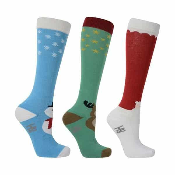 HyFASHION Christmas Socks (Pack of 3) Hy Equestrian